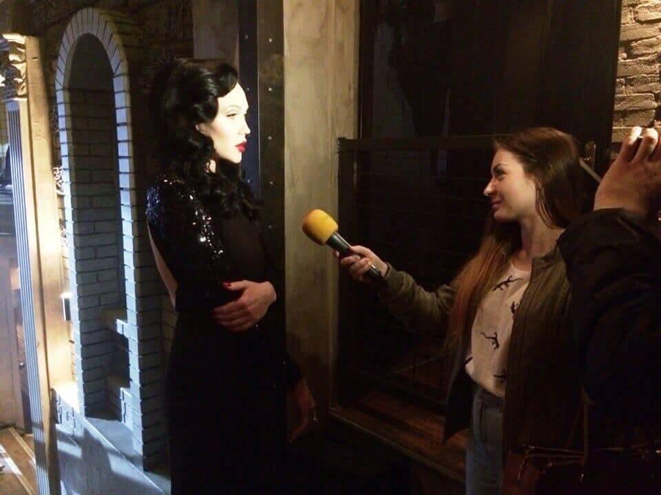 Мира. Интервью в Киеве на съёмках клипа